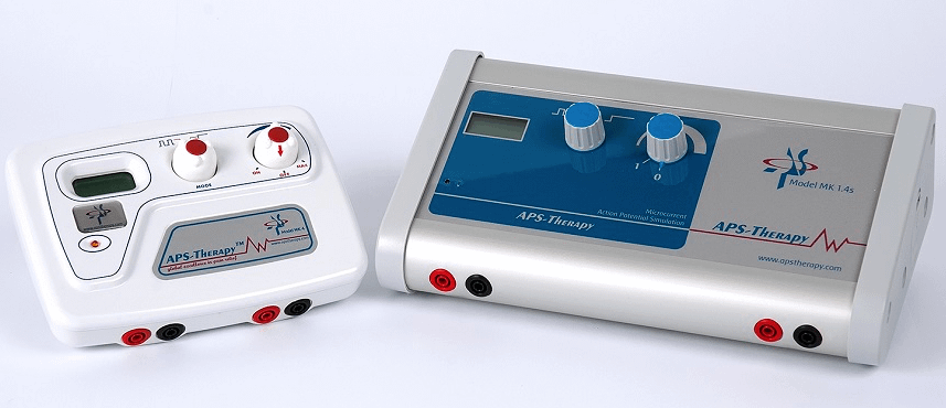 A small machine with knobs and digital display